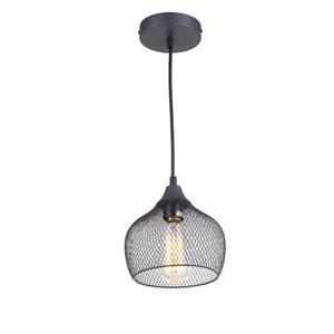 """Luminaire suspendu à 1 lumière, 7.5"""" x 7,5"""", gris"""
