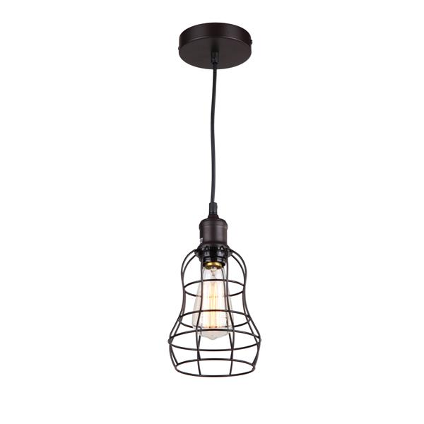 "Luminaire suspendu à 1 lumière, 7"" x 5,75"", bronze"