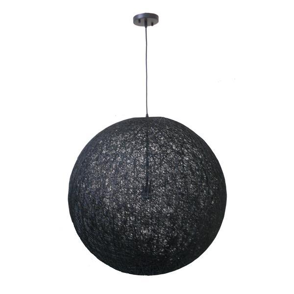 """Luminaire suspendu à 1 lumière, 27,5"""" x 27,5"""", noir"""