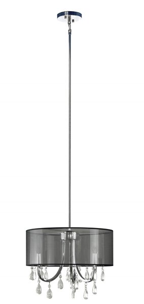 """Lustre à 3 lumières avec abat-jour, 12,85"""" x 15,75"""", noir"""