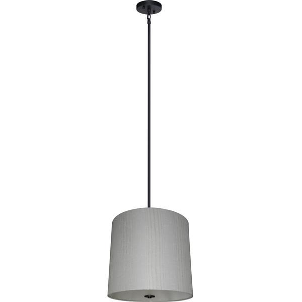Lustre Whitfield à 5 lumières avec abat-jour, 20 po x 22 po, gris