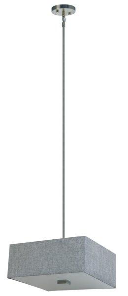 """Lustre à 3 lumières Modena, 7"""" x 16"""", gris"""