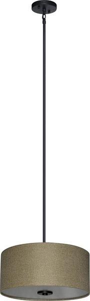 """Lustre à 3 lumières Modena, 7"""" x 16"""", bronze"""
