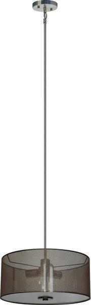 Lustre à 3 lumières Modena deWhitfield, 7 po x 16 po, acier inox