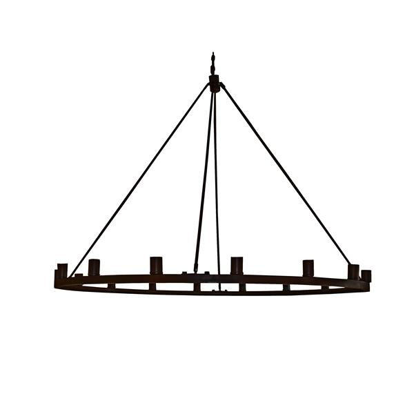 Lustre Whitfield à 16 lumières, 48 po, bronze ébène