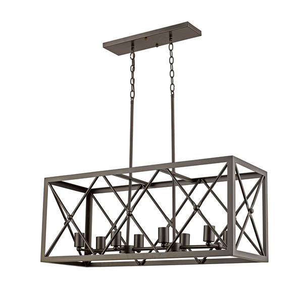 """Lustre à 8 lumières Wendall, 15"""", bronze ébène"""