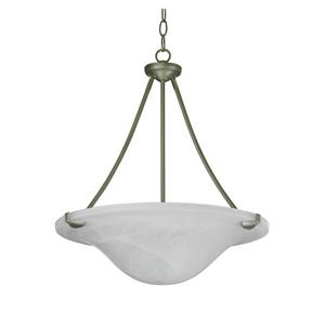 Whitfield Lighting Standard Chandelier - 3 Lights - 19.7-in - Platinum Grey