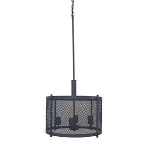 Whitfield Lighting Industrial Chandelier - 4 Lights - 15-in - Dark Grey