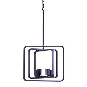 """Lustre industriel à 4 lumières, 12,5"""", bronze ébène"""