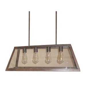 """Lustre à 4 lumières Moira, 10,5"""", bronze huilé"""