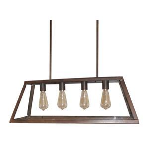 """Lustre à 4 lumières Moira, 10,5"""", 60 W, bronze"""