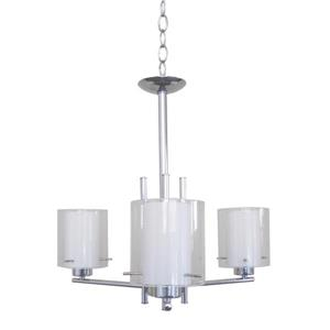 Whitfield Lighting Chandelier - 3 Lights - 17-in - Polished Chrome