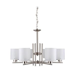 Whitfield Lighting Chandelier - 6 Lights - 18-in - Satin Steel