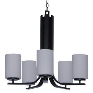 Whitfield Lighting Chandelier - 5 Lights - 22.5-in - Ebony Bronze