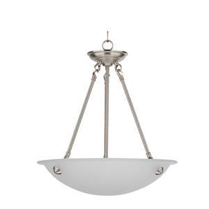 Whitfield Lighting Chandelier - 3 Lights - 24-in - Satin Steel