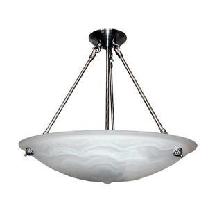 Whitfield Lighting Alana Chandelier - 3 Lights - 30-in - Satin Steel