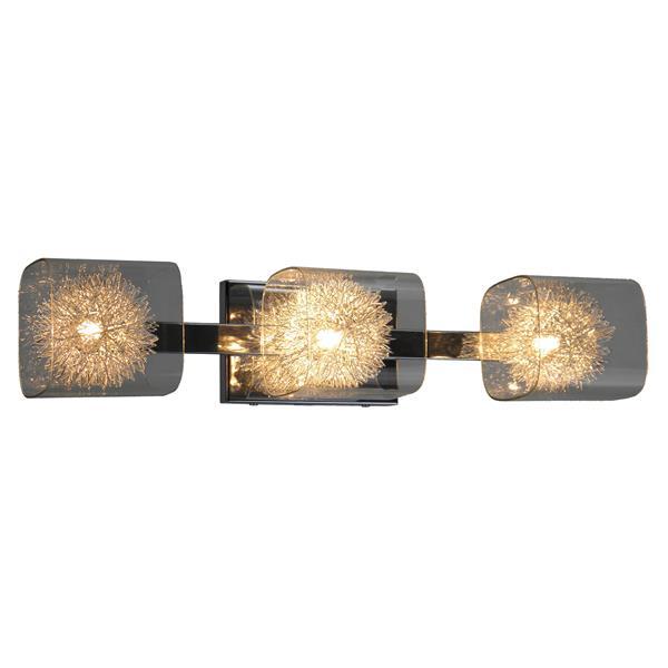 """Luminaire pour meuble-lavabo, 3 lumières, 23,7"""", chrome"""