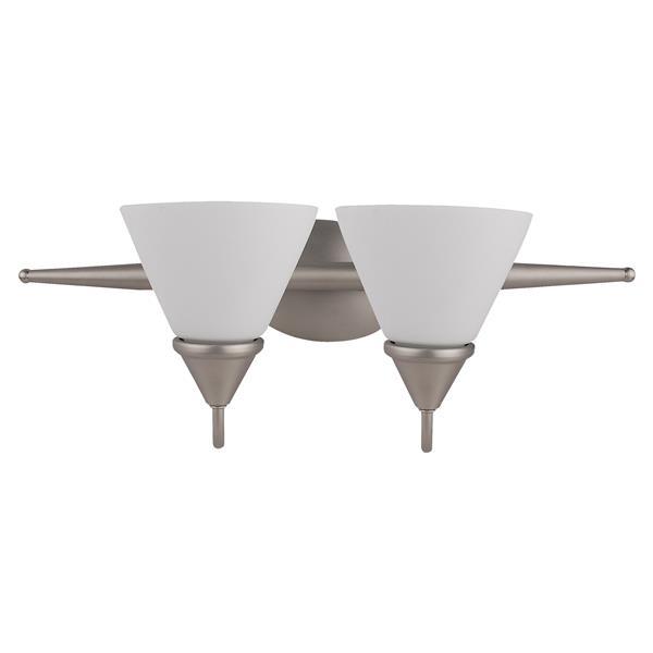 Whitfield Lighting Grayson Vanity Light - 2 Lights - 21-in - Satin Steel