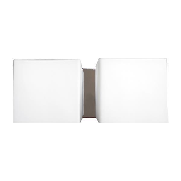 """Luminaire de salle de bain à 2 lumières, 12"""", chrome"""