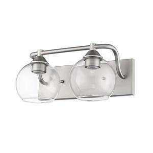 Whitfield Lighting Vanity Light - 2 Lights - 18-in - Satin Nickel
