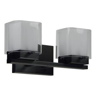 Whitfield Lighting Bathroom Vanity Light - 2 Lights - 14.2-in - Silver Grey