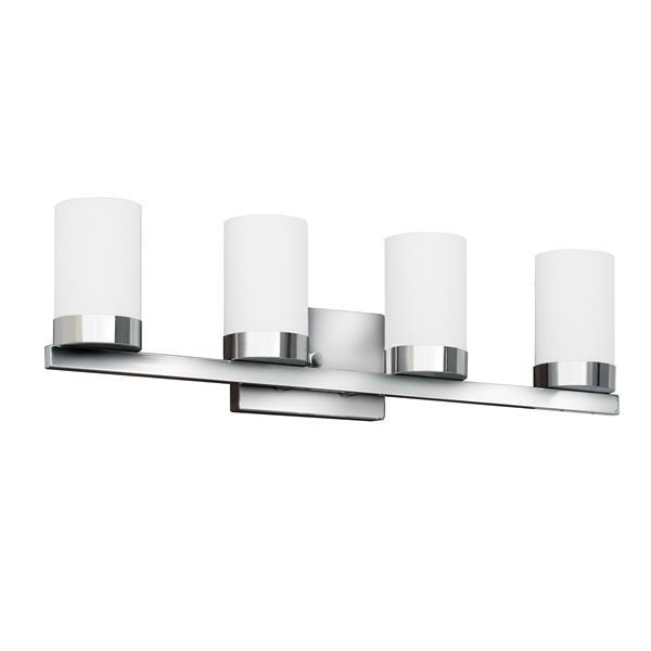 Whitfield Lighting Wall Mount Vanity Light 4 Lights 27 8 In Chrome Vl429 4ch Rona