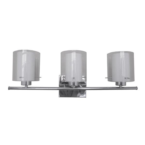 Whitfield Lighting Wall Mount Vanity Light 3 Lights 27 In Chrome Vl28055 3ch Rona