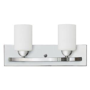 Whitfield Lighting Wall Mount Vanity Light - 2 Lights - 18.1-in - Chrome/White