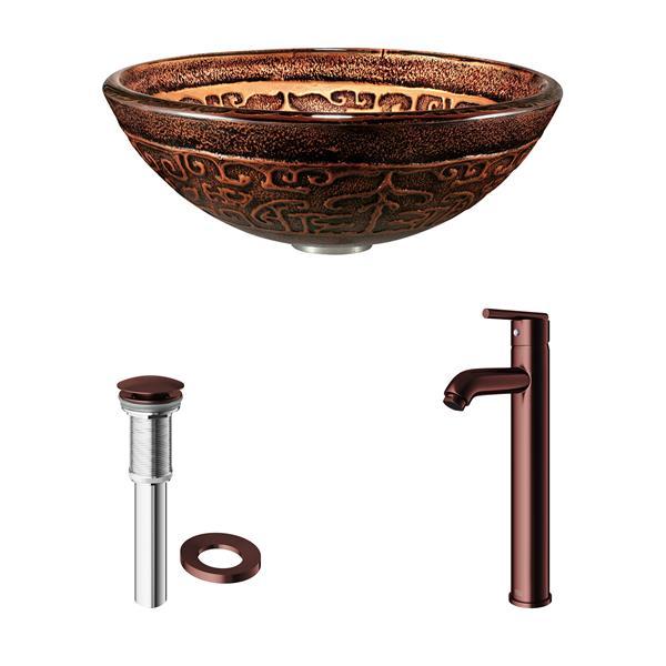 Ensemble de vasque de salle de bain et robinet, Golden Greek