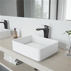 Ensemble de vasque de salle de bain et robinet, Jasmine