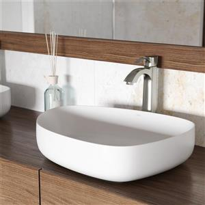 Ensemble de vasque de salle de bain et robinet, Peony