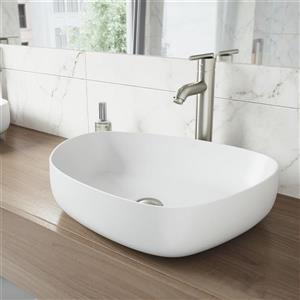 Vessel Bathroom Sink with Faucet - Peony