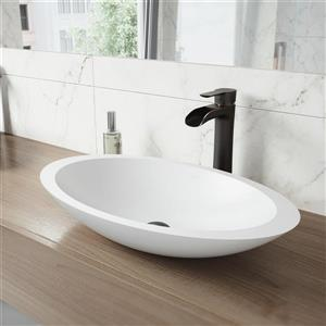 Ensemble de vasque de salle de bain et robinet, Wisteria