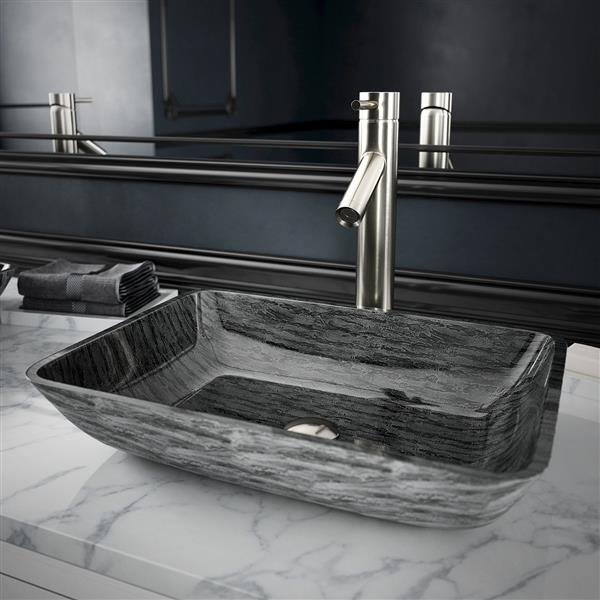 Robinet pour vasque de salle de bain Dior, nickel brossé