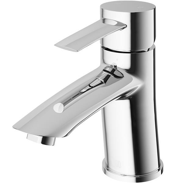 Robinet de salle de bain monotrou Bova, chrome