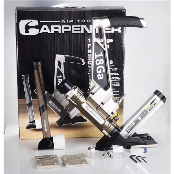 """Cloueuse à plancher à agrafes en L """"Carpenter"""", calibre 18"""