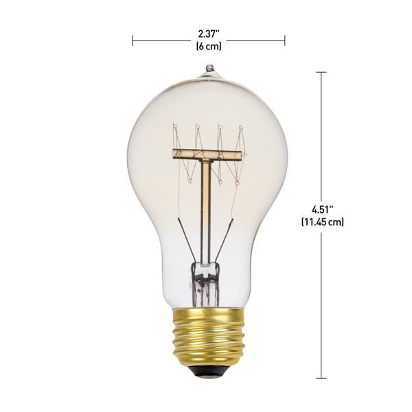 Ampoule incandescente Edison, 60 W, paquet de 3