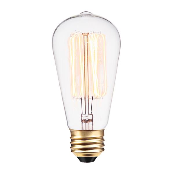 Edison S60 Incandescent Light Bulbs - 60 W - Pack of 12