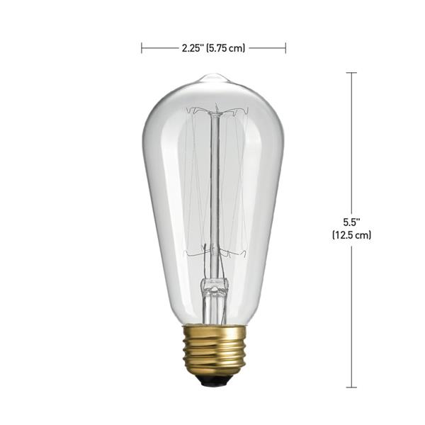 Globe Electric Edison S60 Incandescent Filament Bulb - Pack of 3