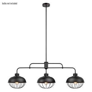 Luminaire suspendu Elior, 3 lumières, 48 po, bronze