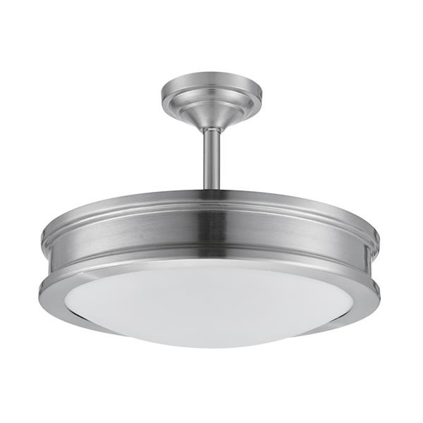 White Flushmount Ceiling Light 2-Bulb Flush Mount Fixture Round Glass Shade Lamp