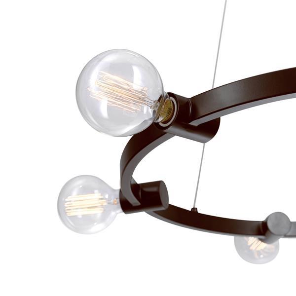 """Chandelier Hank, 6 lumières, 60"""", bronze"""