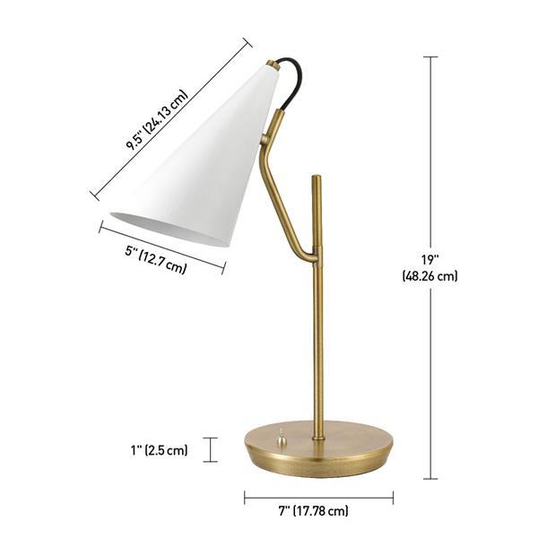 """Globe Electric Hartford Desk Lamp - 18"""" - Brass"""