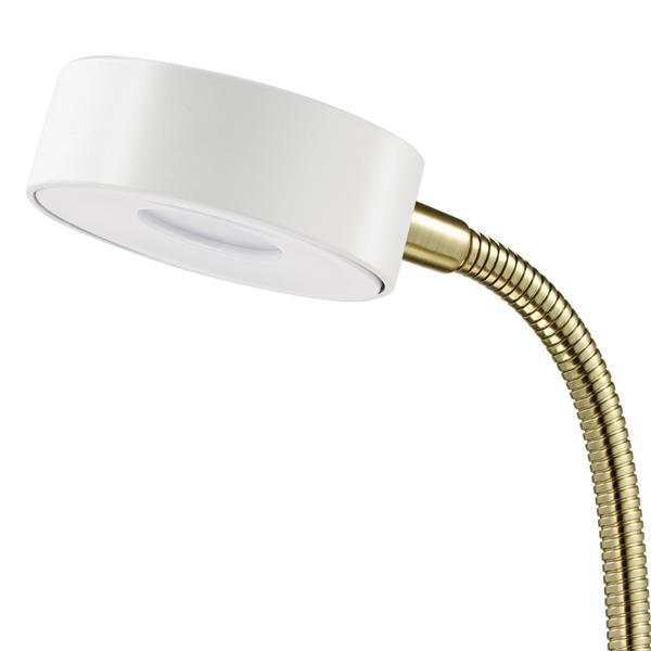 Lampe de bureau à DEL intégrée, blanc
