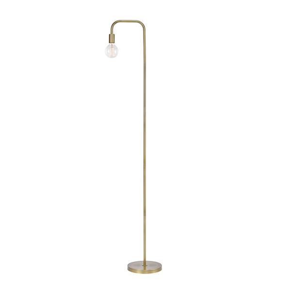 """Lampe sur pied Holden, 70"""", métal, or"""