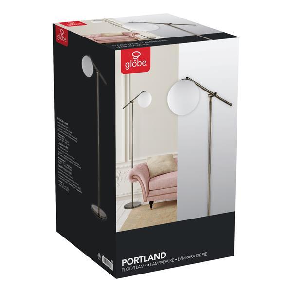 """Lampe sur pied Portland, 65"""", métal, laiton"""