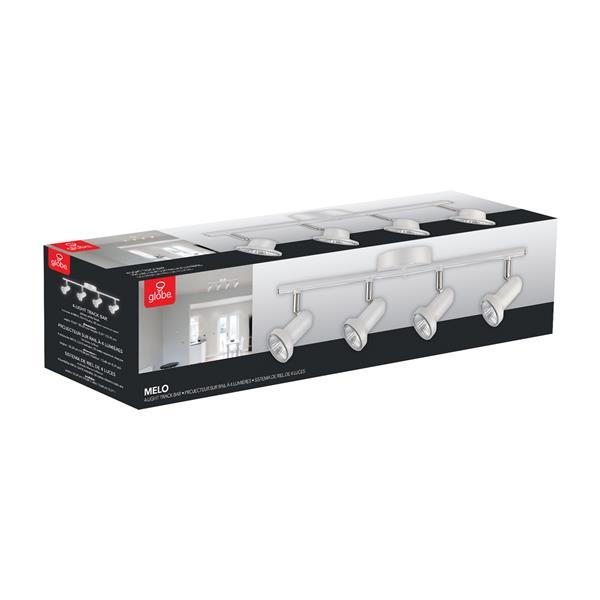 Rail d'éclairage Melo, 4 lumières, blanc