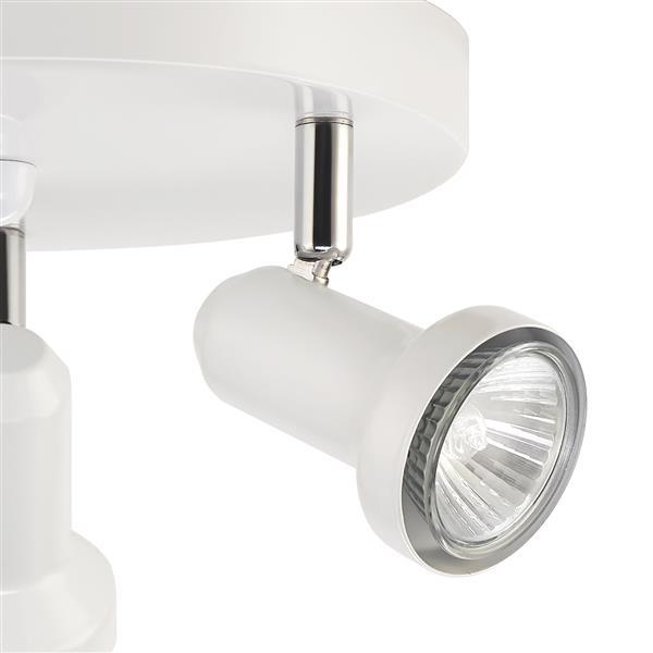 Canopée d'éclairage sur rail Melo, 3 lumières, blanc