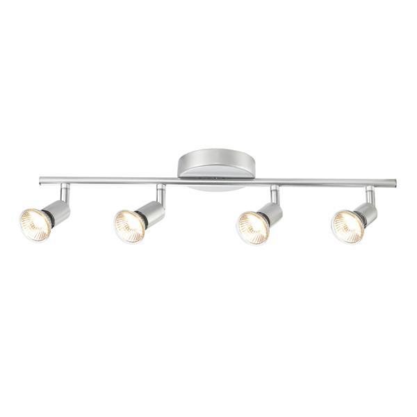 Ensemble de rail d'éclairage Payton, 4 lumières, argent