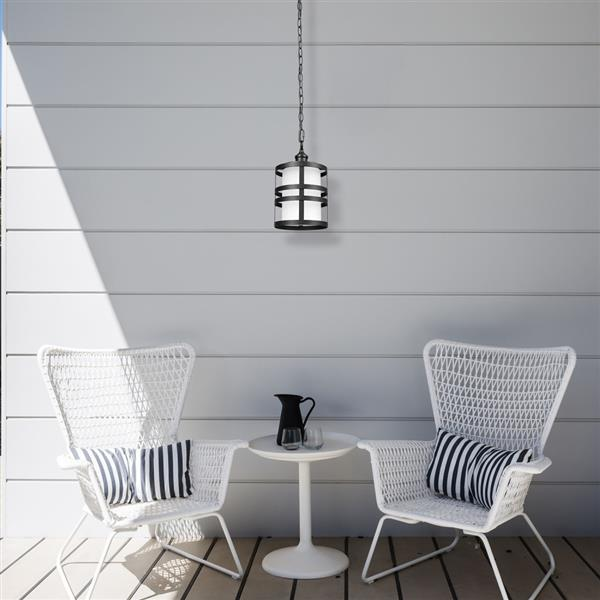 Globe Electric Archimedes Outdoor Pendant Light - 53.7-in - Black